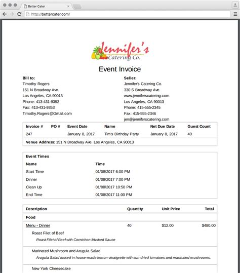 event planning invoice template event invoice template 28 images wedding florist