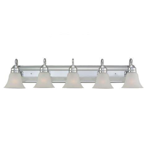 5 light chrome vanity fixture sea gull lighting oslo 3 light chrome vanity light 41162