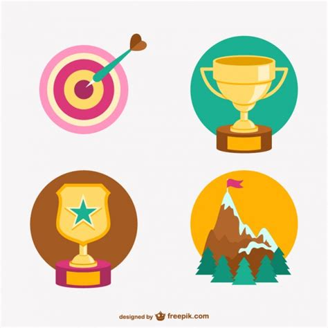trophies and achievements vector free
