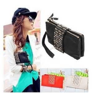 Black Envelope Skull Clutch Wallet Korean Bag handbags wallets 183 dress for less 183 store