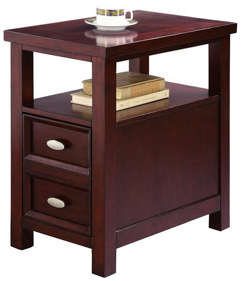 narrow end table narrow end table with drawers home furniture design