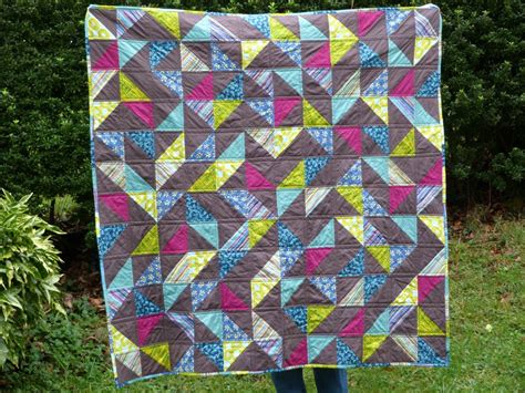 Triangle Patchwork - patchwork moderne avec des triangles patch contemporain