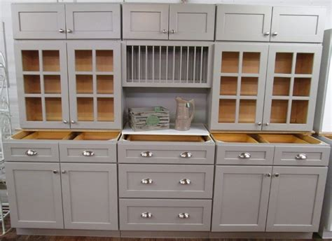 kitchens with gray cabinets