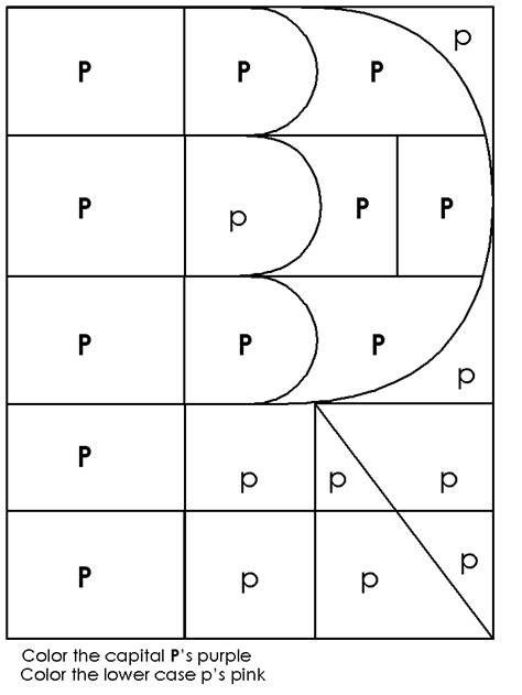 Letter P Coloring Pages Kindergarten by Kindergarten Consonant Activity Pages Letter Of The Week