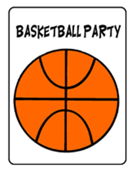 Free Printable Basketball Party Invitations Free Basketball Website Templates