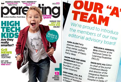 ideas mag parenting magazine editorial advisory board staff kara