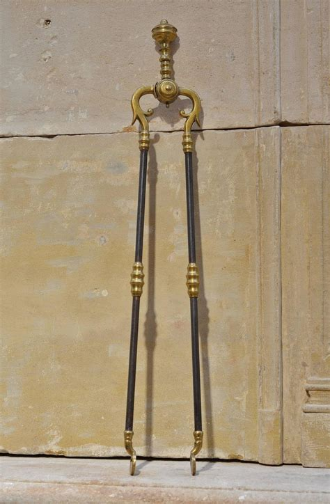trio of antique fireplace tools for sale at 1stdibs