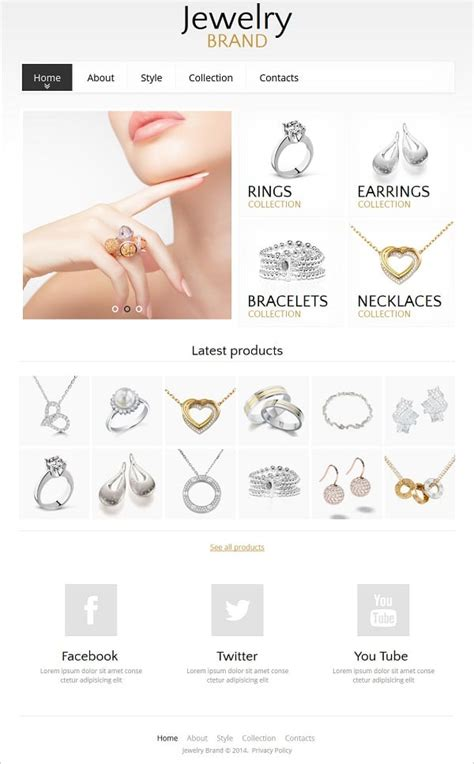 How To Choose A Jewelry Website Design That Converts Jewellery Web Templates