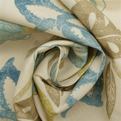 trendy upholstery fabric designer sandersons floral prints cotton linen