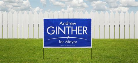 backyard signs yard signs are here mayor andrew j ginther