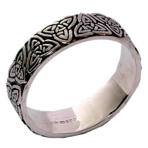 silver celtic knot wedding ring