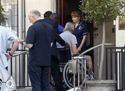 Out Of Hospital by Harrison Ford Pictured Being Wheeled Out Of Hospital In