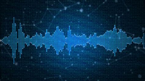 background themes with sound audio spectrum animation sound waveform on blue
