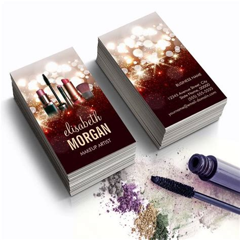 sparkle design business card templates makeup artist cosmetologist shiny glitter sparkle
