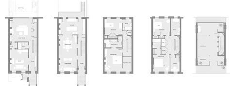 12th street rowhouse urban pioneering 100 row house floor plans gold ember amber a