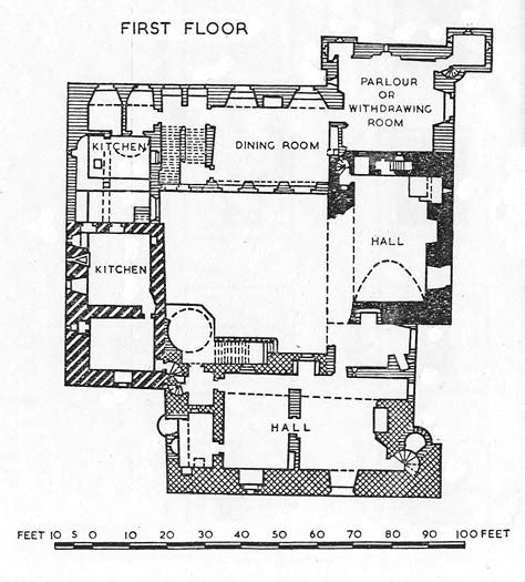Historic Tudor House Plans walls as rooms british castles and louis khan socks