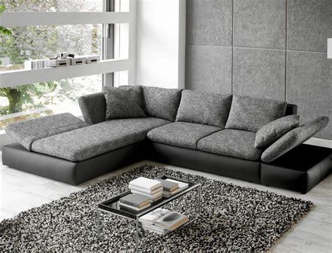 couch on wohnlandschaft ecksofa 326x208 grau schwarz polsterecke