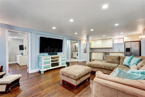 download basement tv room ideas erodriguezdesign com pastel blue walls in basement living room interior stock