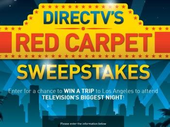 Direct Tv Sweepstakes - directv s red carpet sweepstakes sweepstakes fanatics