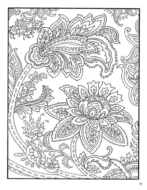 dover paisley designs coloring book coloring pages