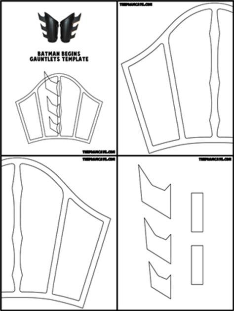 gauntlet template template for batman begins gauntlets the foam cave