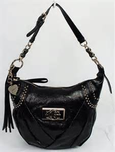 new guess dianne black hobo bag handbag ebay