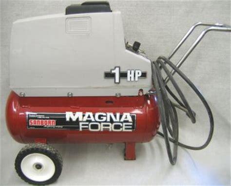 sanborn magna 1 hp air compressor mo2fl100 7 5