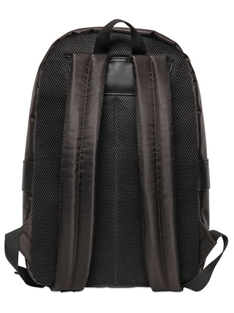 Canvas Backpack Black lyst diesel techno canvas backpack in black for