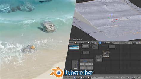 blender tutorial liquid beach waves blender fluid tutorial 2 of 2 animation