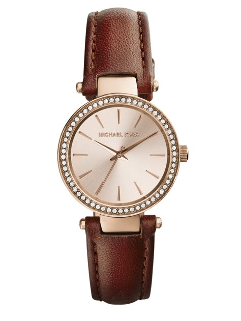 Ck Ck099 Brown Rosegold michael kors darci pav 233 goldtone stainless steel leather in metallic