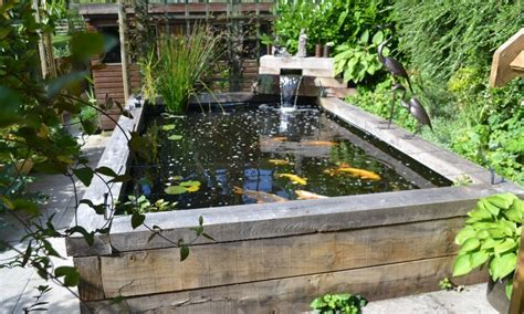 raised koi pond designs idea landscaping gardening ideas