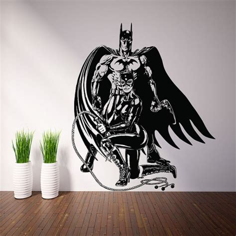 batman tattoo stickers batman and catwoman vinyl wall art decal