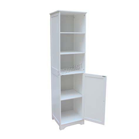Wall Mounted Bathroom Shelving Units Foxhunter Wall Mount Wooden Bathroom Cabinet Shelving Unit Storage Cupboard 5055418326728