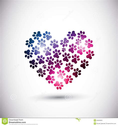 animal love abstract paw print logo stock vector image
