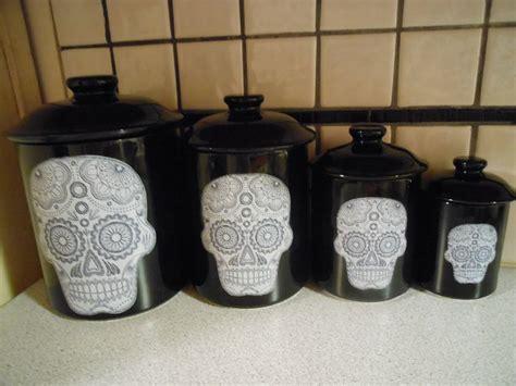 Sugar Skull Kitchen sugar skull canister set boys my and my friend