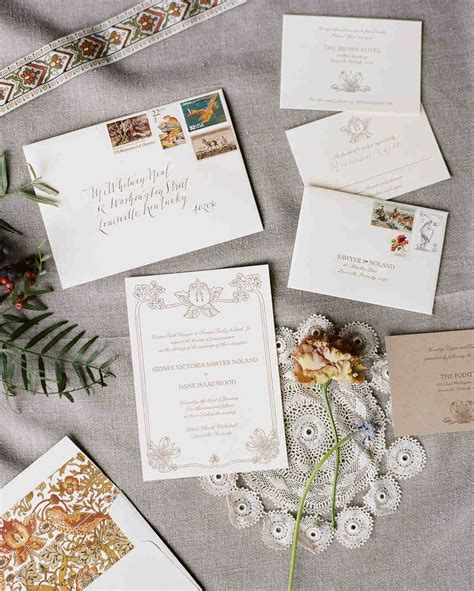 what monogram do you put on wedding invitations 10 things you should before addressing assembling