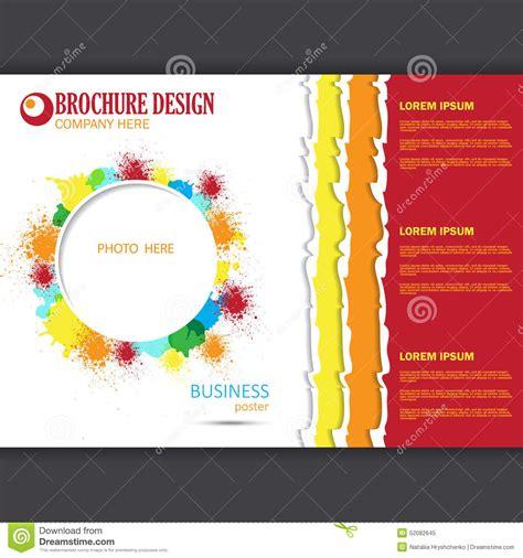 poster design horizontal vector horizontal presentation of business poster stock