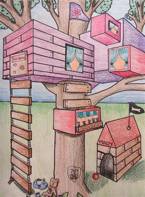 2 Point Perspective House Drawing Lesson by Mini Matisse Student Sles Of The Two Point Perspective