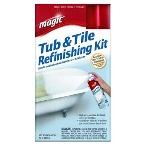 bathtub painting kit magic 17 oz bath tub and tile refinishing kit in white 3020 the home depot