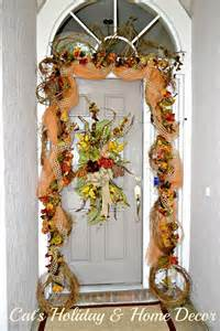 Decorative Garlands Home Decorating With Grapevine Garland Cat S Home Decor Musings Of Fall Decor