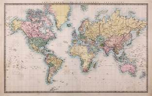 Wall Map Murals 1860 Vintage World Map Wallpaper Wall Mural By Loveabode Com