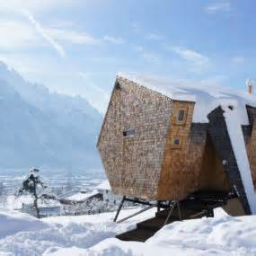 linear mountain house of wood glass and chalet charm wood and glass mountain house with trio of terraces