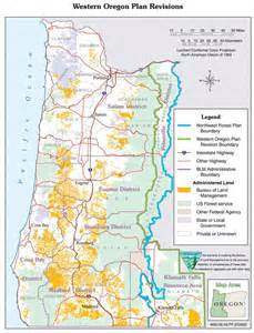 western oregon plan revisions map oregon washington blm