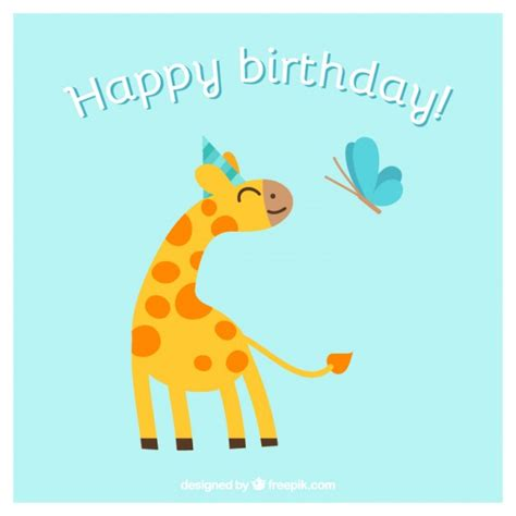 Animal Birthday Card Template by Happy Birthday Card With Animals Vector Free