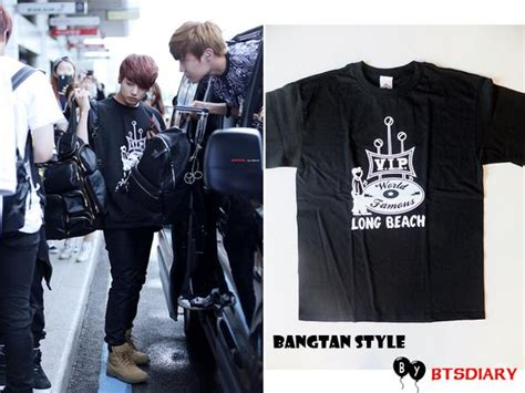 Zeronine 1 Tees bangtan style bts airport fashion going to japan 140718