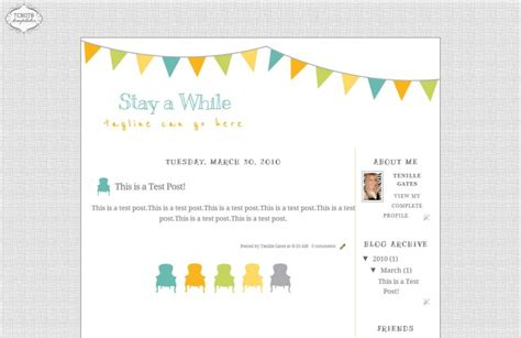 stay awhile blog template the cutest blog on the block
