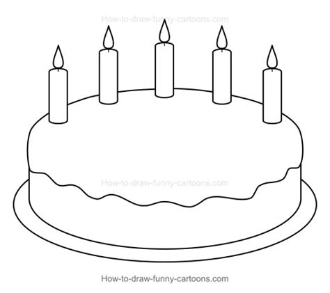 plain cake coloring page how to draw a cartoon birthday cake