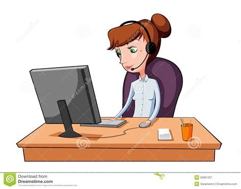 2 Person Desk Home Office by Working In A Call Center Royalty Free Stock