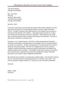Cover Letter For Education by Cover Letter Free Sles Cover Letter For Teaching