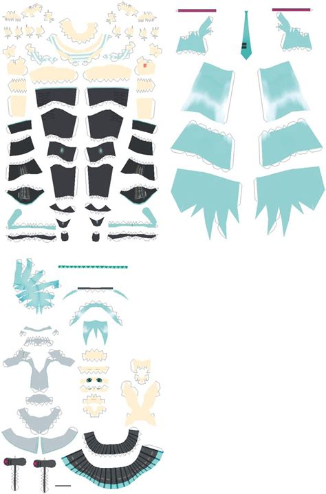 Anime Paper Crafts - anime papercraft hatsune miku papercraft 30 cm by